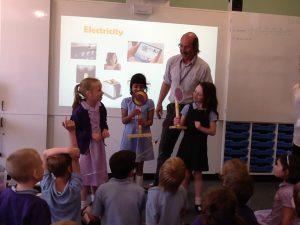 Damer's school workshop Pete West