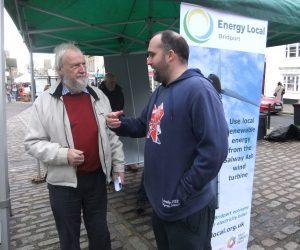 Two community energy activists Bridport