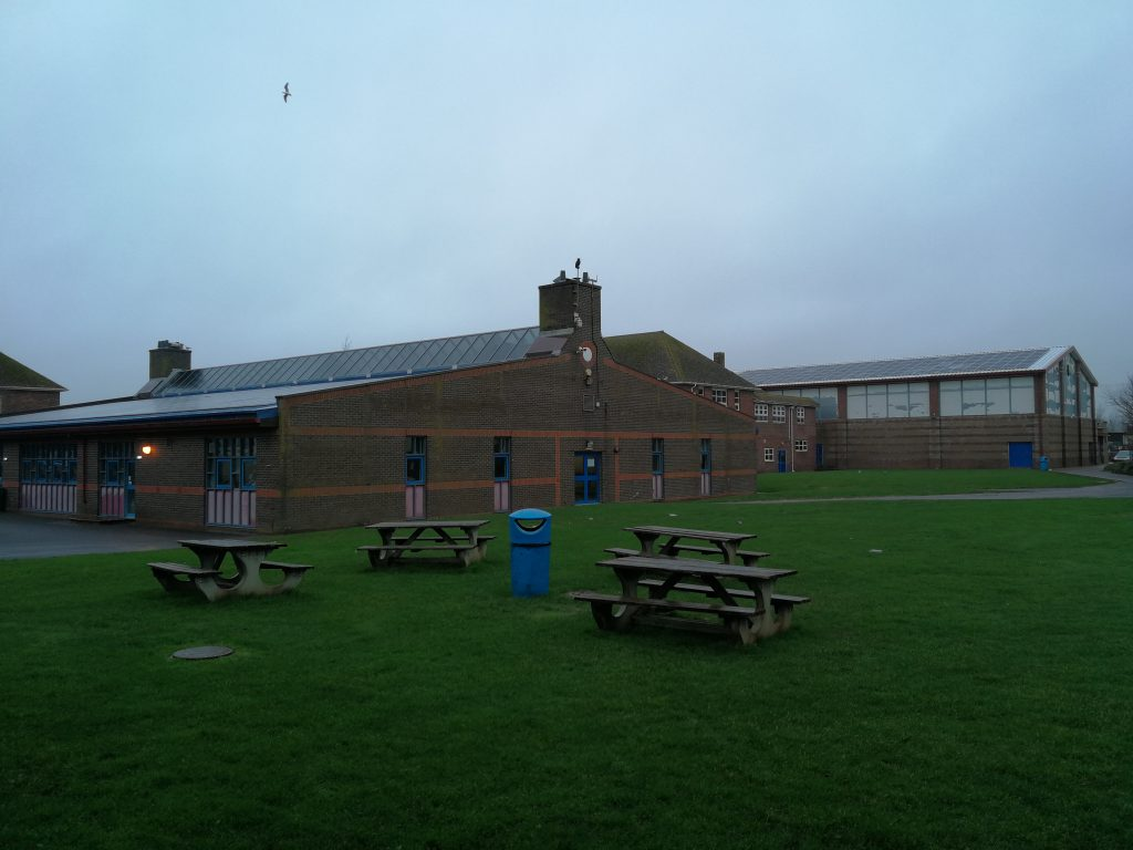 solar pv on roof of Wey Valley School